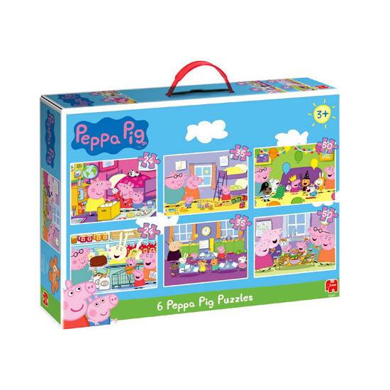 Peppa Pig Bumper Pack 6 in 1 Puzzles