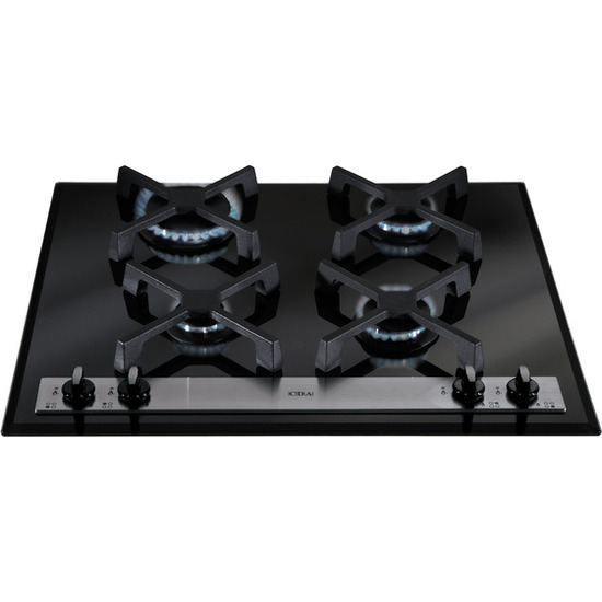 CDA 60cm Gas on Glass Hob - Black