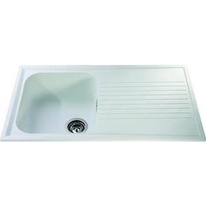 Photo of CDA Composite Single Bowl Sink - White Kitchen Sink