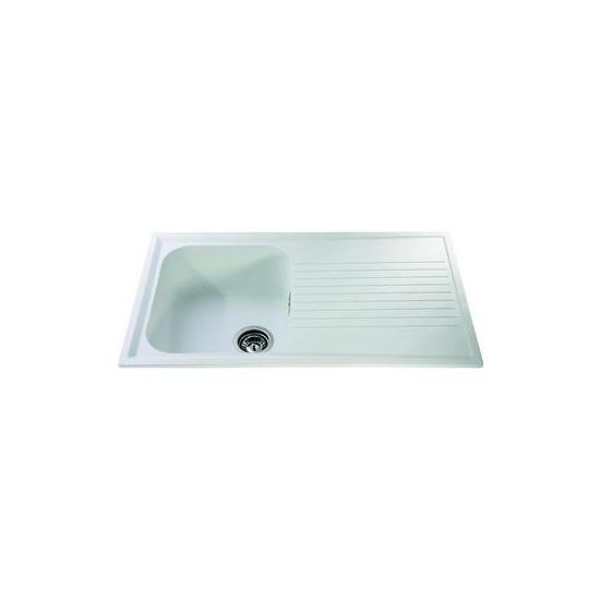 Kitchen Sinks Without Taps Cda As1cm 1 0 Bowl Cream Reversible Quartz Composite Kitchen Sink Waste Kit Home Furniture Diy Zabbaan Com