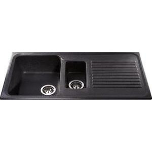 Photo of CDA Composite One and Half Bowl Sink Ebony Black Kitchen Sink