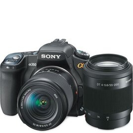 Sony DSLR-A350 with 18-70mm and 70-300mm