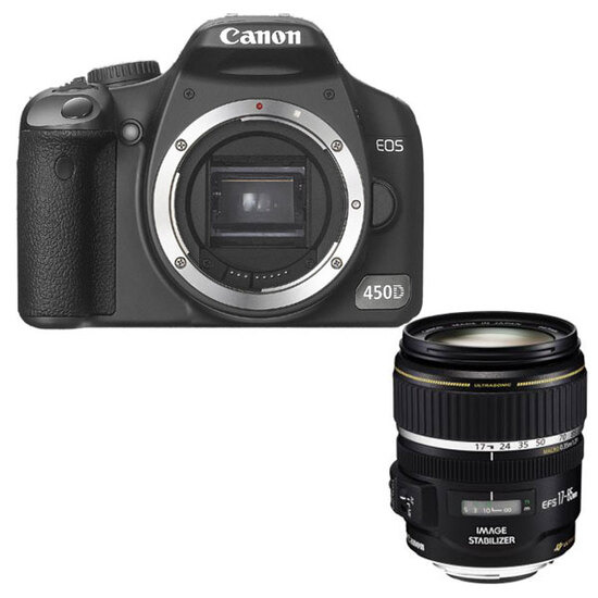 Canon EOS 450D with 17-85mm lens