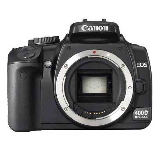 Canon EOS 400D with EF-S 18-55mm lens