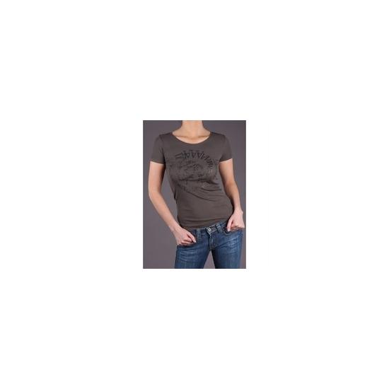 Diesel Khaki Glitter Logo T-Shirt