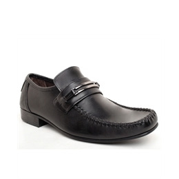 Base 'Slide' Twin Trim Saddle Loafer Black Reviews
