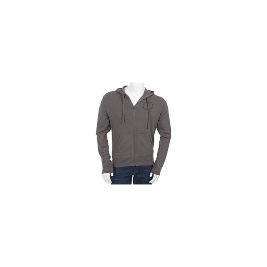 Calvin Klein Zip Through Sweatshirt Dark Grey
