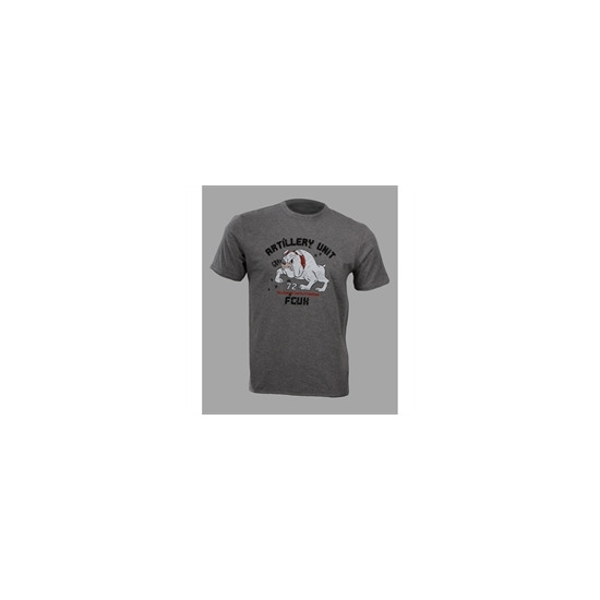French Connection grey t-shirt with Bulldog print