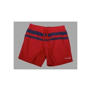 Photo of French Connection Red With Blue Strip Swim Shorts Swimwear