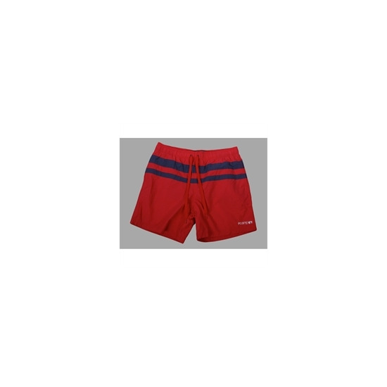 French Connection red with blue strip swim shorts