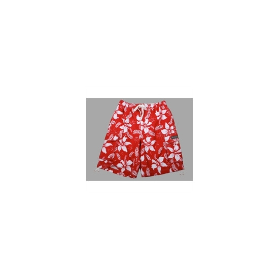 French Connection Red/white Hawaiian swim shorts
