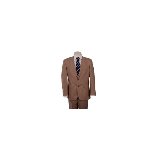 Scott Linen Blend Suit in Taupe