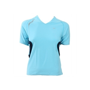 Photo of Nike Short Sleeved Tech T-Shirt - Blue Tops Woman