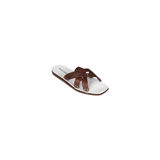 Diesel strap style leather sandal - Brown