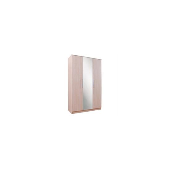 Lille 3 Door Wardrobe  Maple Effect