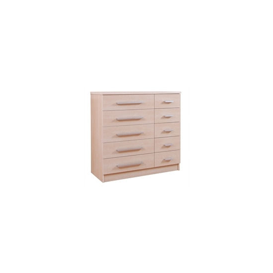 Lille 5 + 5 Drawer Chest - Maple Effect