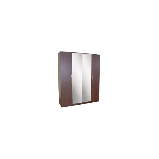 Chamonix 4 Door Wardrobe  Espresso Effect