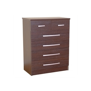 Photo of Chamonix 4 + 2 Drawer Chest  Espresso Effect Furniture