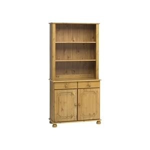 Photo of Kensington 2 Door Shelving Unit  Solid Pine Household Storage