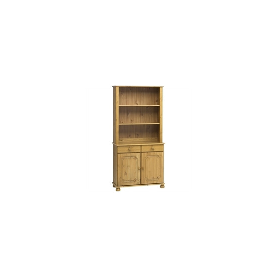 Kensington 2 Door Shelving Unit  Solid Pine