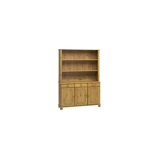 Kensington 3 Door Shelving Unit - Solid Pine