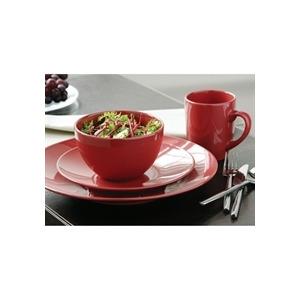 Photo of 16 Piece Domus Dinner Set Red Dinnerware