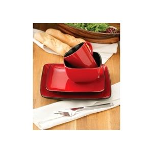 Photo of 16 Piece Roja Reactive Glaze Square Dinner Set Dinnerware