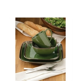 16 Piece Bronze Verde Square Dinner Set Reviews