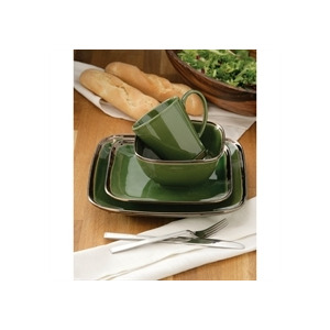 Photo of 16 Piece Bronze Verde Square Dinner Set Dinnerware