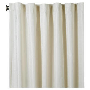 Photo of Square Jacquard Lined Pencil Pleat Curtain