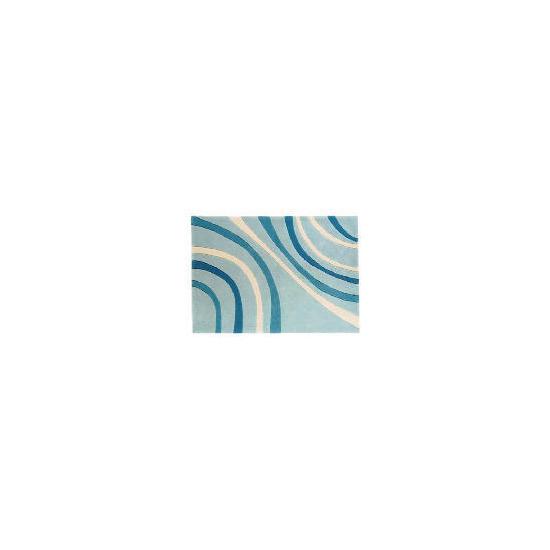 Tesco Waves Rug 60x120cm Duck Egg