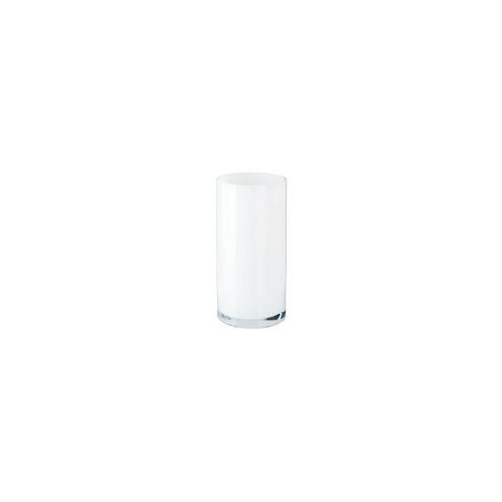 Tesco Glass Cylinder Vase 26cm White
