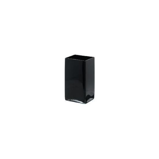 Tesco Glass Tank Vase - 18cm, Black