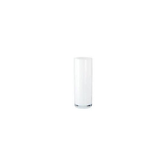 Tesco Glass Cylinder Vase 35cm - White