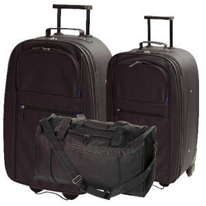 Photo of Tesco Value Classic Large Trolley, Medium Trolley and Overnight Holdall Luggage