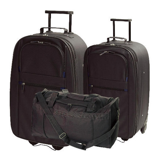 Tesco Value Classic Large Trolley, Medium Trolley and Overnight Holdall