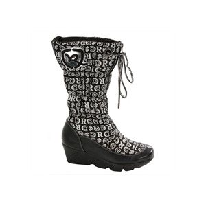 Photo of Rocawear Black Platform Printed Boot Shoes Woman