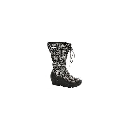 Rocawear Black Platform Printed Boot