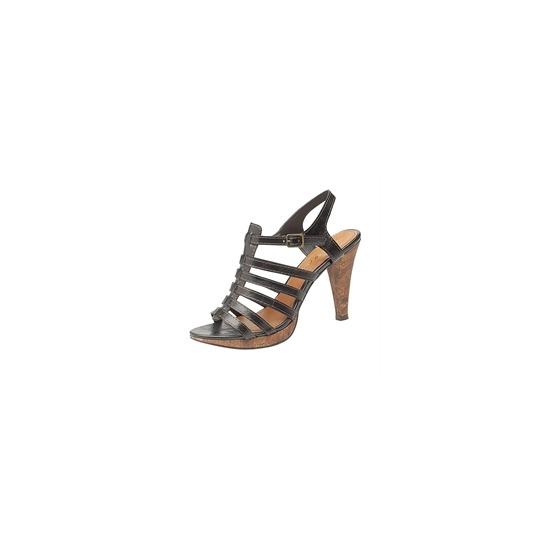 Ann Michelle strappy heels - black