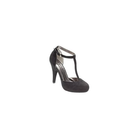 Ann Michelle T bar heels - black