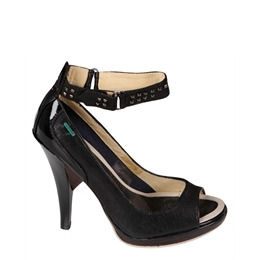Full Circle Peep Toe Heels - Black Reviews