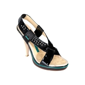 Photo of Full Circle Black Strappy Sandals Shoes Woman