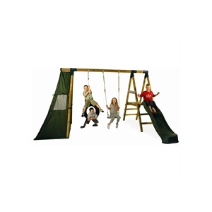 Photo of Macaque Swing+Tyre+Play Tent+Play Deck+Slide Garden Furniture