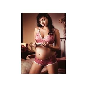 Photo of Hot Milk Floral & Lace Bikini Brief - Pink Lingerie