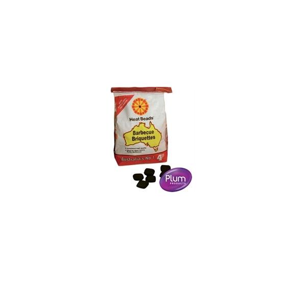 Plum Heat Beads BBQ Fuel 4x4kg bags