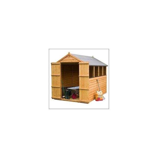 8x6 Overlap Apex Shed with Double Doors