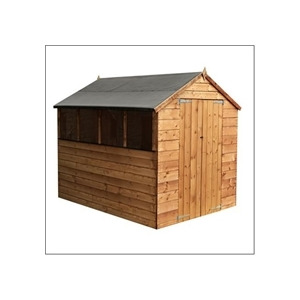 Photo of Cheshire 8X6 Shiplap OSB Apex Shed With Double Doors Shed