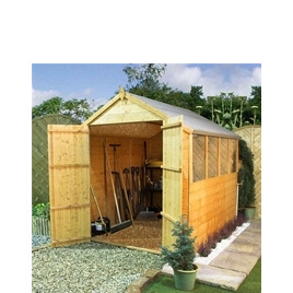 Clumber 8x6 Tongue & Groove Apex with Double Doors Reviews