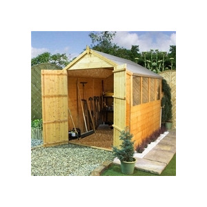 Photo of Clumber 8X6 Tongue & Groove Apex With Double Doors Shed