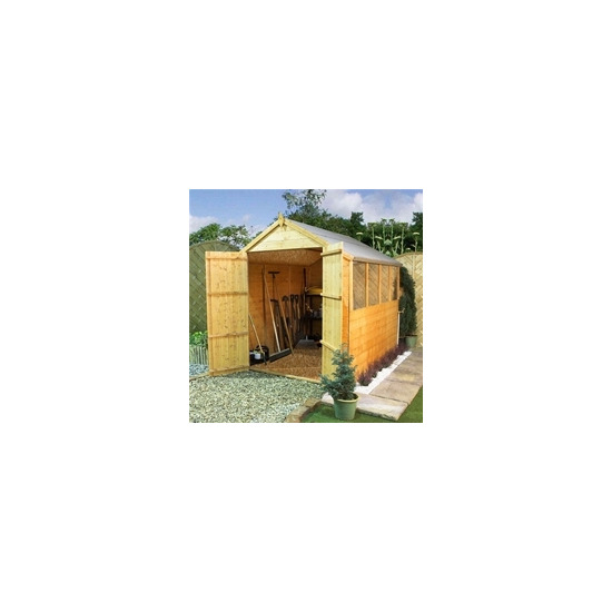 Clumber 8x6 Tongue & Groove Apex with Double Doors